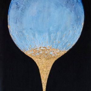 50x70 cm  8500 kr akryl o tempera och guld
